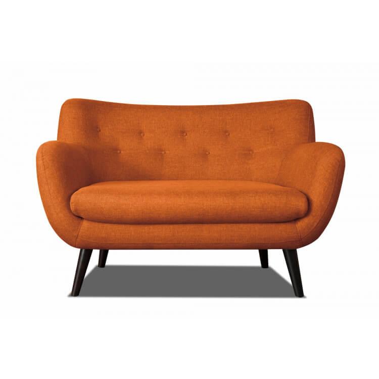 acheter pas cher 5013d 250de Canapé 2 places design en tissu orange Axelle