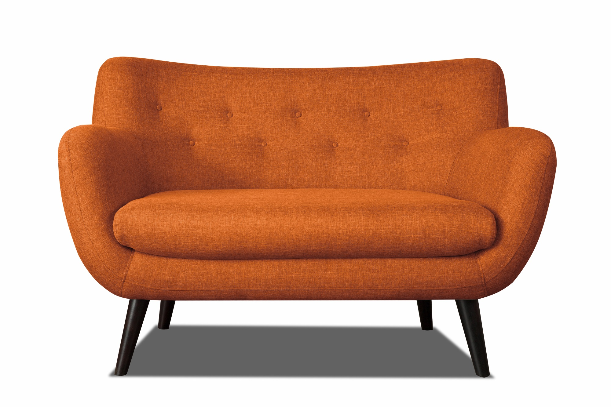 Canapé 2 places design en tissu orange Axelle