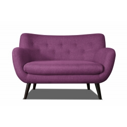 Canapé 2 places design en tissu prune Axelle