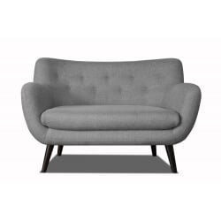 Canapé 2 places design en tissu gris clair Axelle