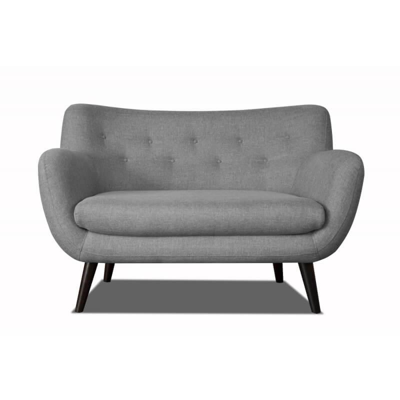 canap 2 places design en tissu gris clair axelle matelpro. Black Bedroom Furniture Sets. Home Design Ideas