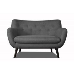 Canapé 2 places design en tissu gris foncé Axelle