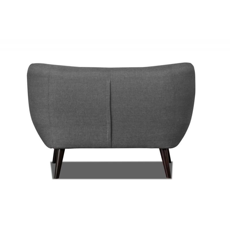 canap 2 places design en tissu gris fonc axelle matelpro. Black Bedroom Furniture Sets. Home Design Ideas