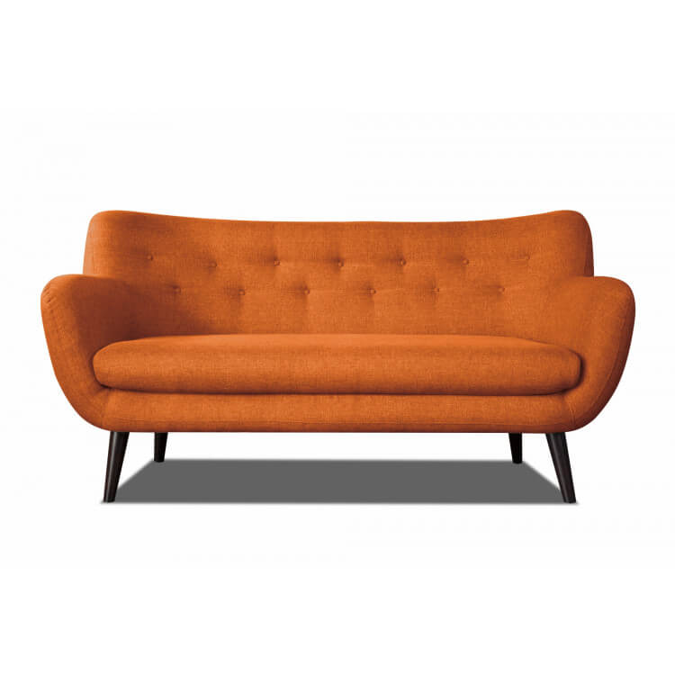 Canapé 3 places design en tissu orange Axelle