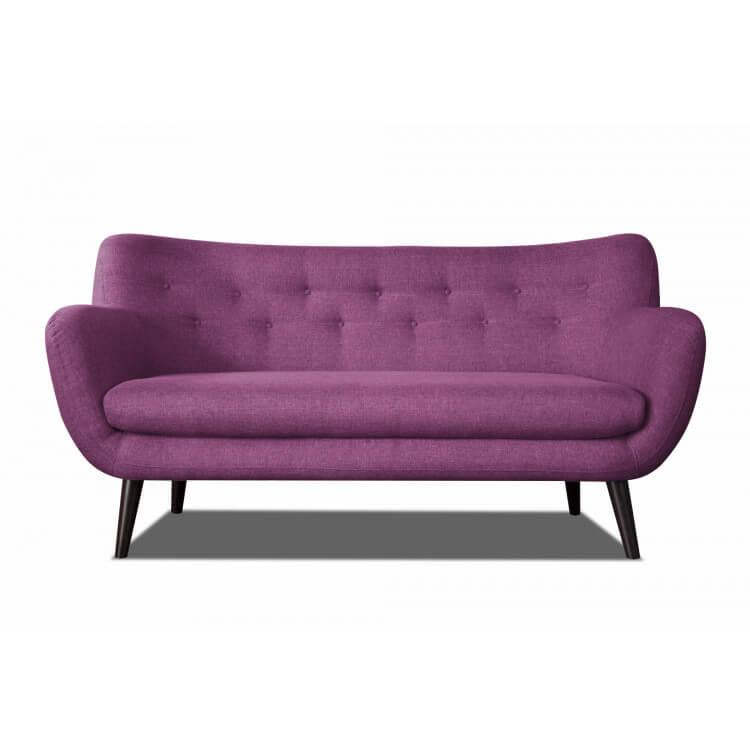 Canapé 3 places design en tissu prune Axelle