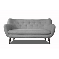 Canapé 3 places design en tissu gris clair Axelle