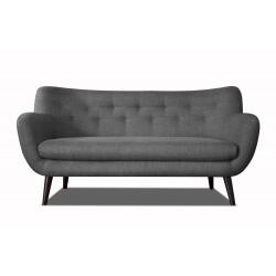 Canapé 3 places design en tissu gris foncé Axelle