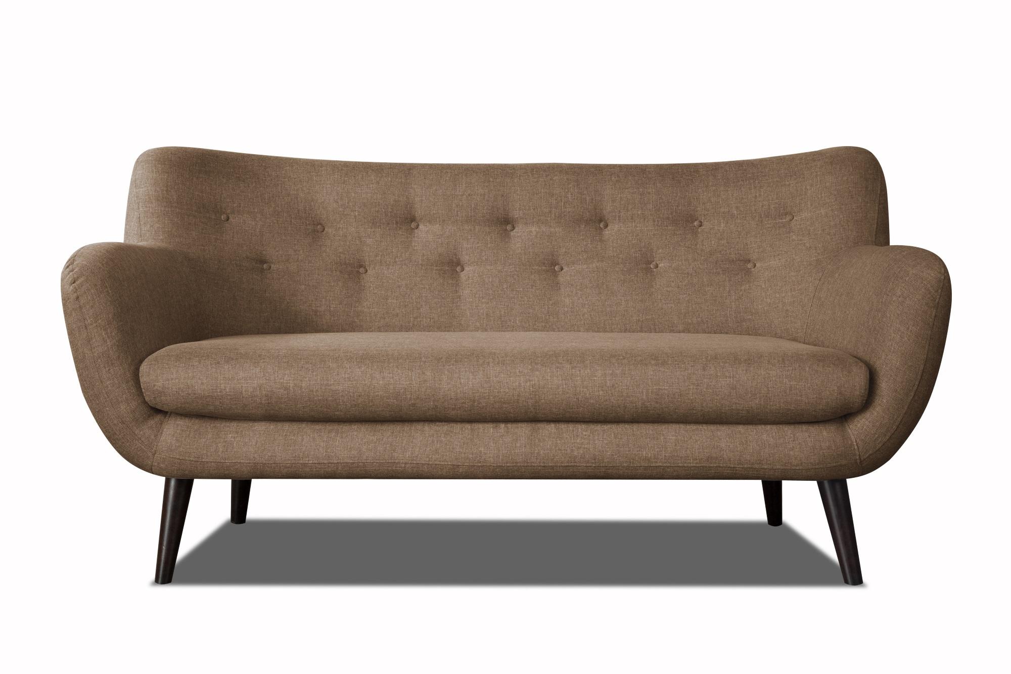 Canapé 3 places design en tissu brun Axelle