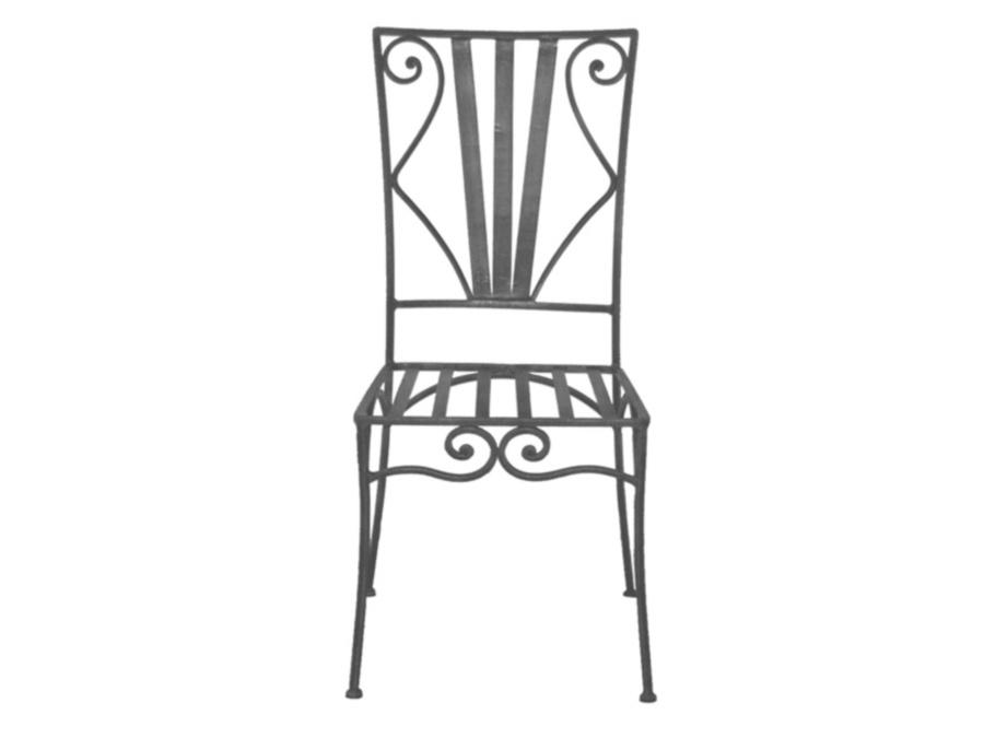 Chaises fer forgé de salle à manger (lot de 2)ROMANCE