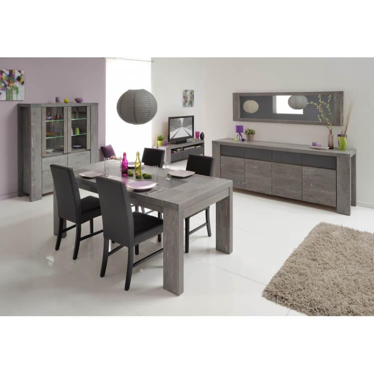Miroir de salle à manger rectangulaire chêne grisé Indila