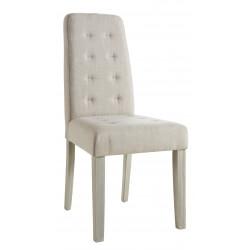 Chaise de salle à manger contemporaine en tissu beige (lot de 2) Algar