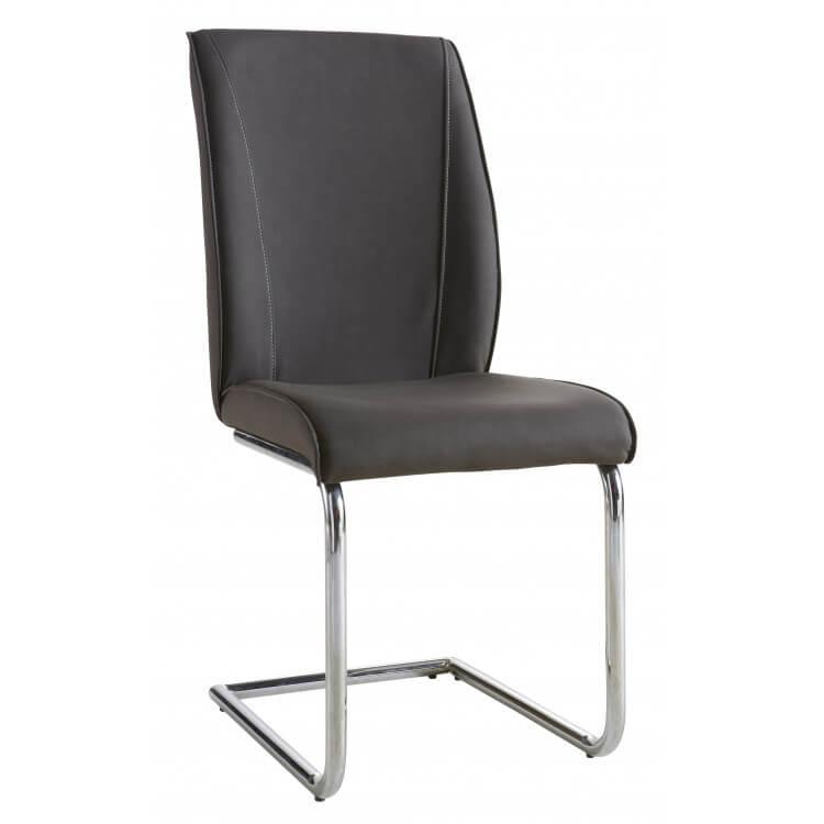 Chaise de salle à manger design coloris gris foncé (lot de 2) Alistone