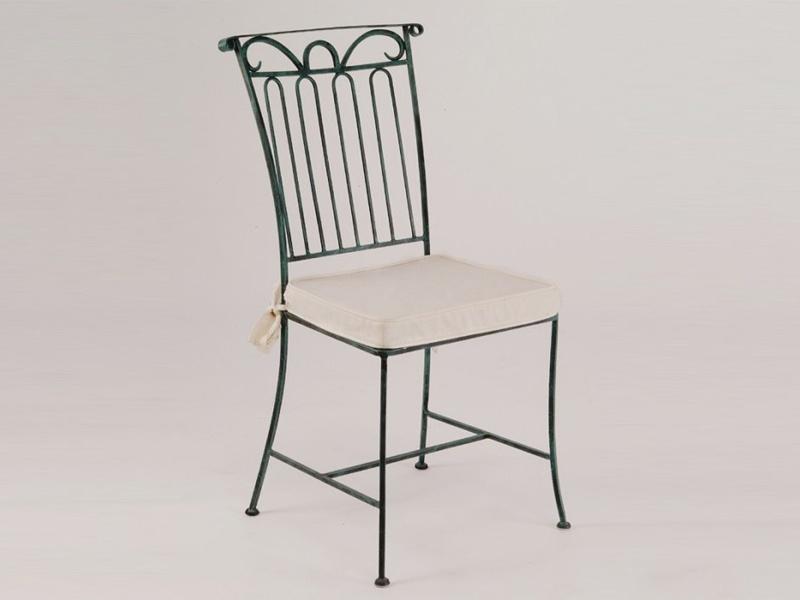 Chaises fer forgé de salle à manger (lot de 2) VENISE