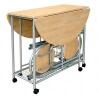 Ensemble table et chaises de cuisine chêne/gris Betria