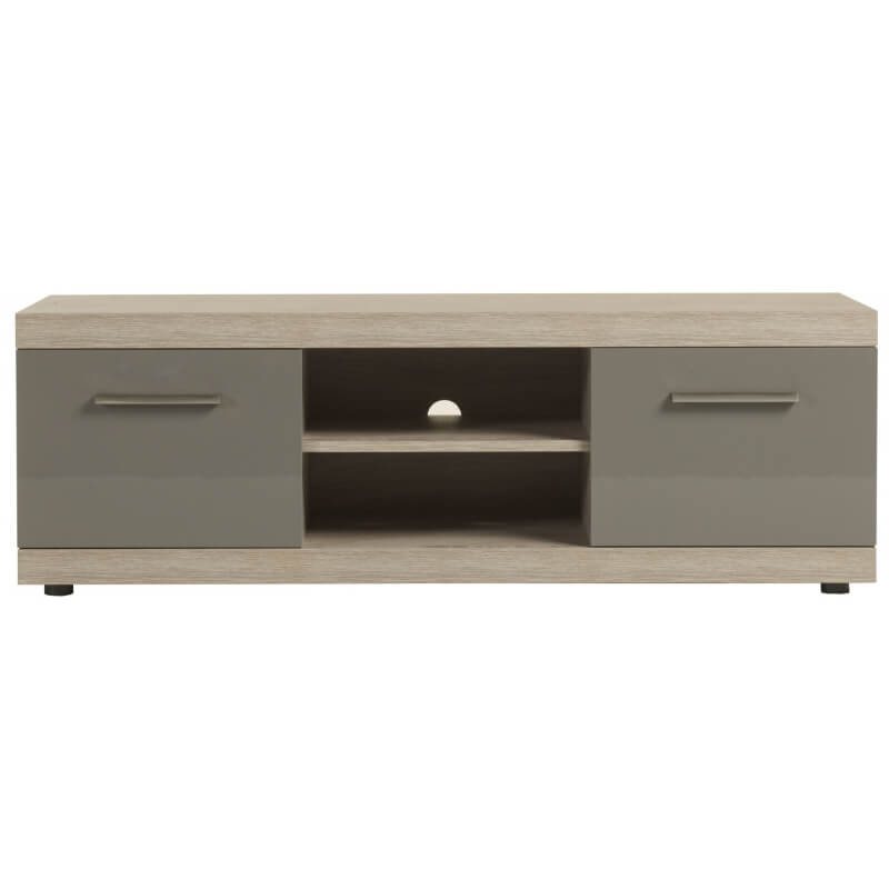 meuble tv contemporain memphis oak gris laqu andrea. Black Bedroom Furniture Sets. Home Design Ideas
