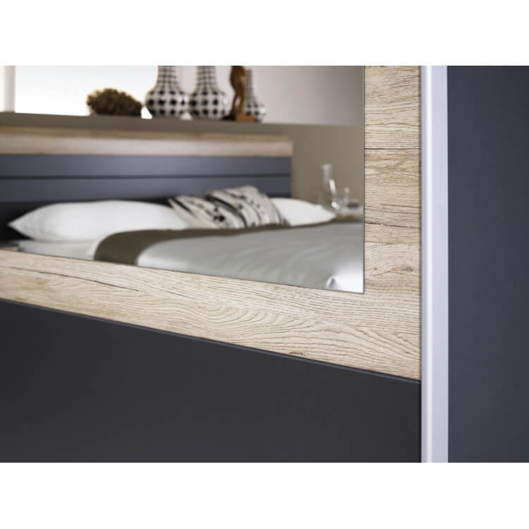chambre adulte compl te contemporaine grise ch ne clair djaneiro iii matelpro. Black Bedroom Furniture Sets. Home Design Ideas