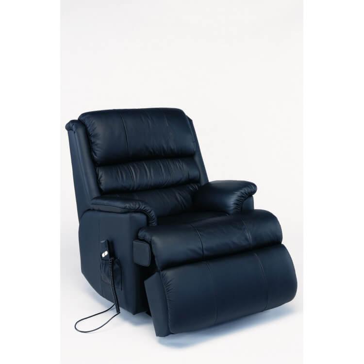 Fauteuil de relaxation 100 % cuir électrique avec repose-pieds intégré STARLINE