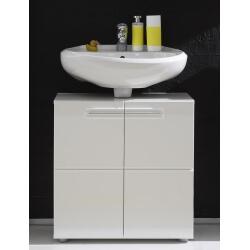 Meuble sous lavabo de salle de bain design laqué blanc Obra