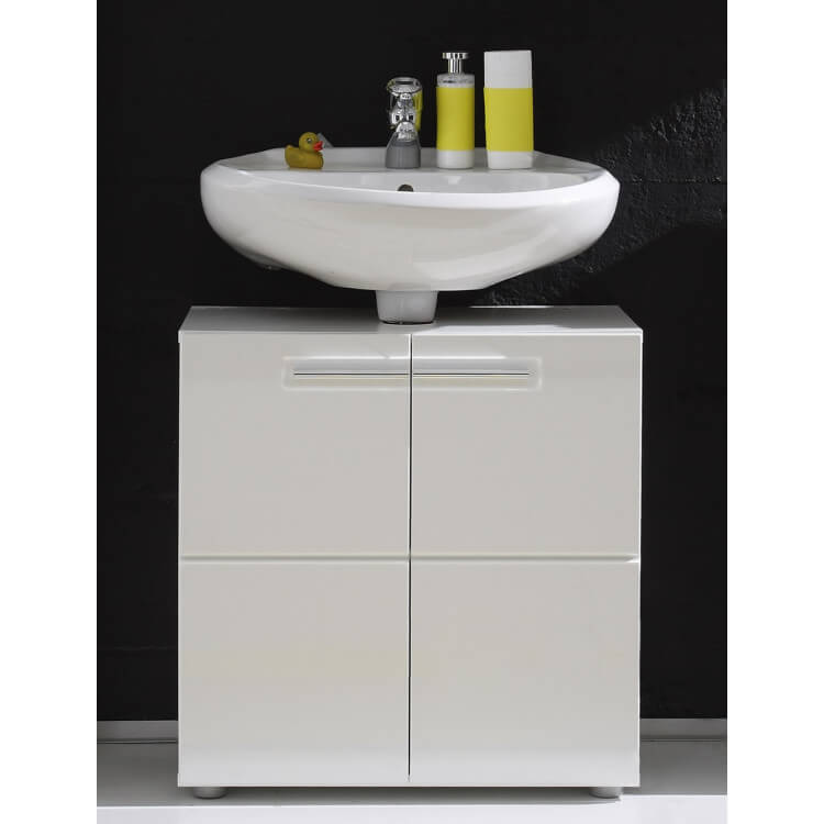 Meuble Sous Lavabo De Salle De Bain Design Laque Blanc Obra