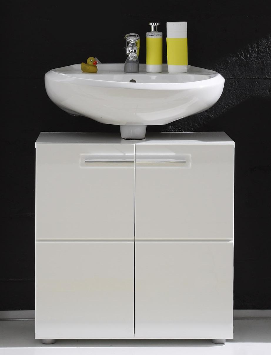 Meuble sous lavabo de salle de bain design laqu blanc obra matelpro - Meuble de lavabo ...