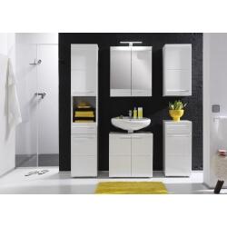 Ensemble de salle de bain design laqué blanc Obra