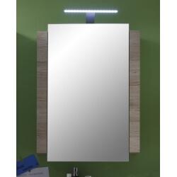 Armoire de toilette contemporaine avec éclairage chêne clair Cambodge