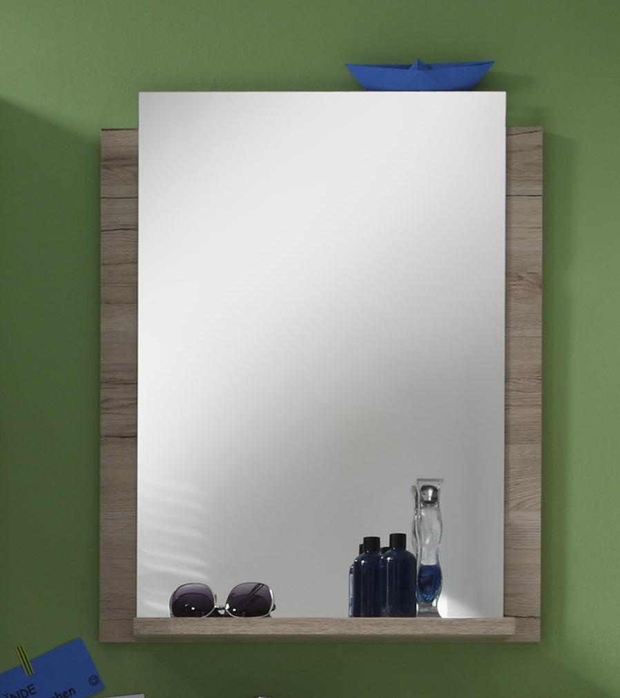 Miroir de salle de bain contemporain chêne clair Cambodge