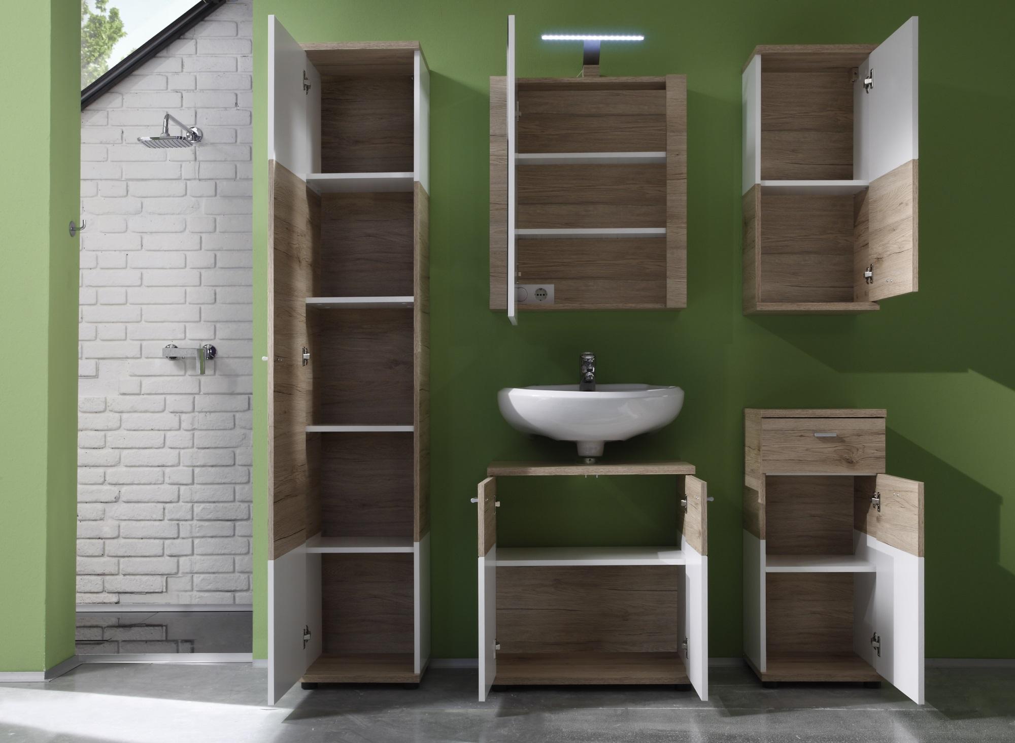 meuble haut de salle de bain contemporain 1 porte ch ne. Black Bedroom Furniture Sets. Home Design Ideas