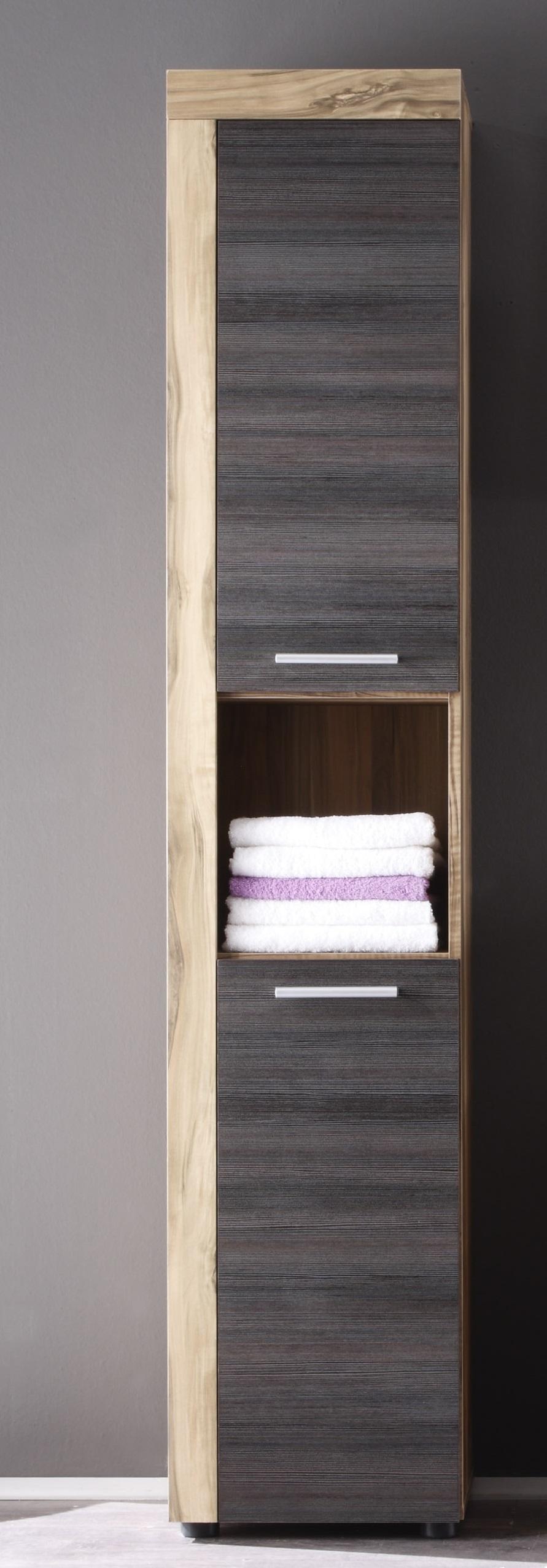 Colonne de salle de bain contemporaine chêne/gris foncé Bloom