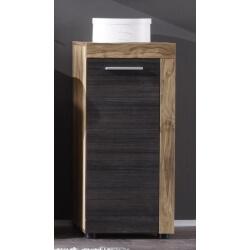 Meuble bas de salle de bain contemporain chêne/gris foncé Bloom