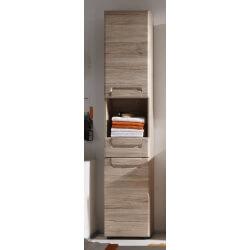 Colonne de salle de bain contemporaine chêne clair Mileane