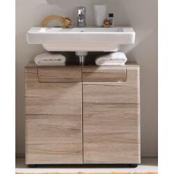 Meuble sous lavabo de salle de bain contemporain chêne clair Mileane