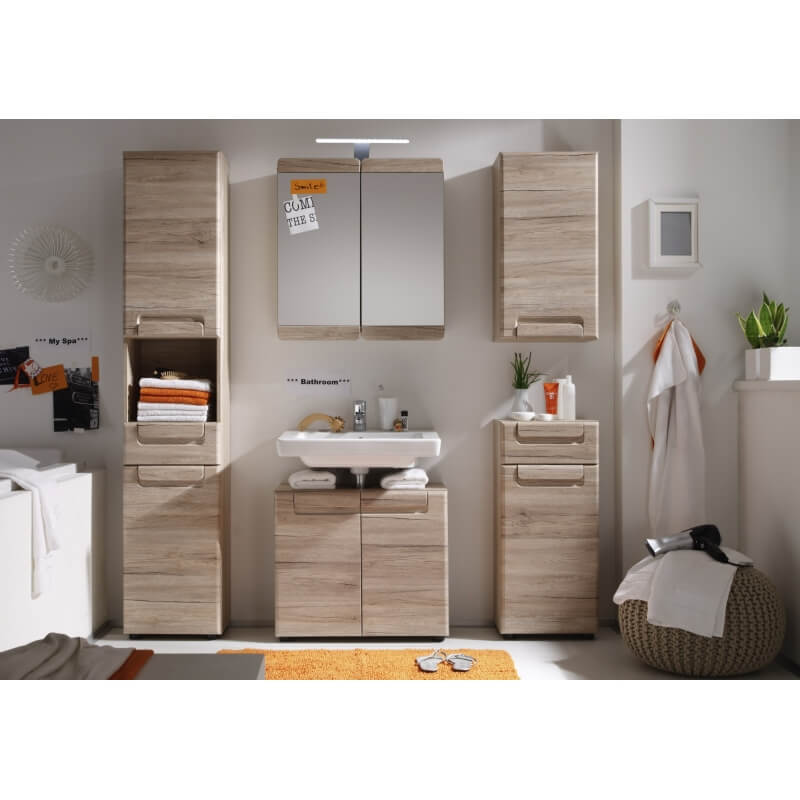 meuble haut de salle de bain contemporain 1 porte ch ne. Black Bedroom Furniture Sets. Home Design Ideas