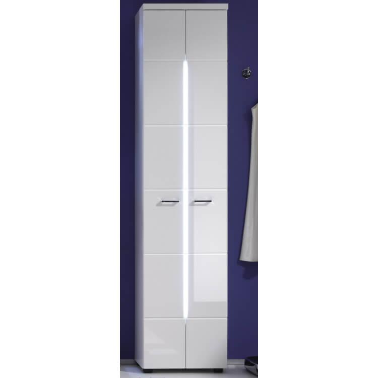 Colonne de salle de bain design blanche avec éclairage Blondie