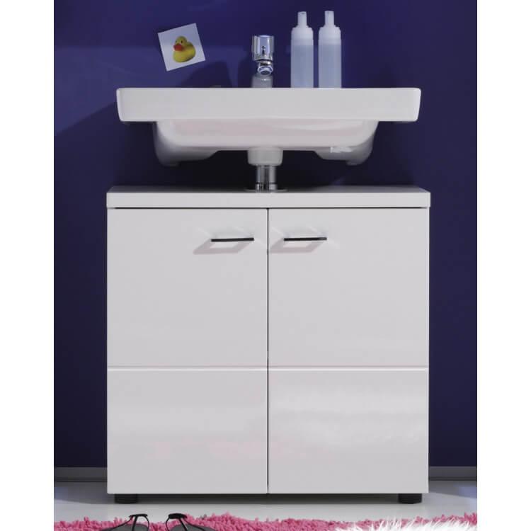 Meuble sous lavabo de salle de bain design blanc Blondie