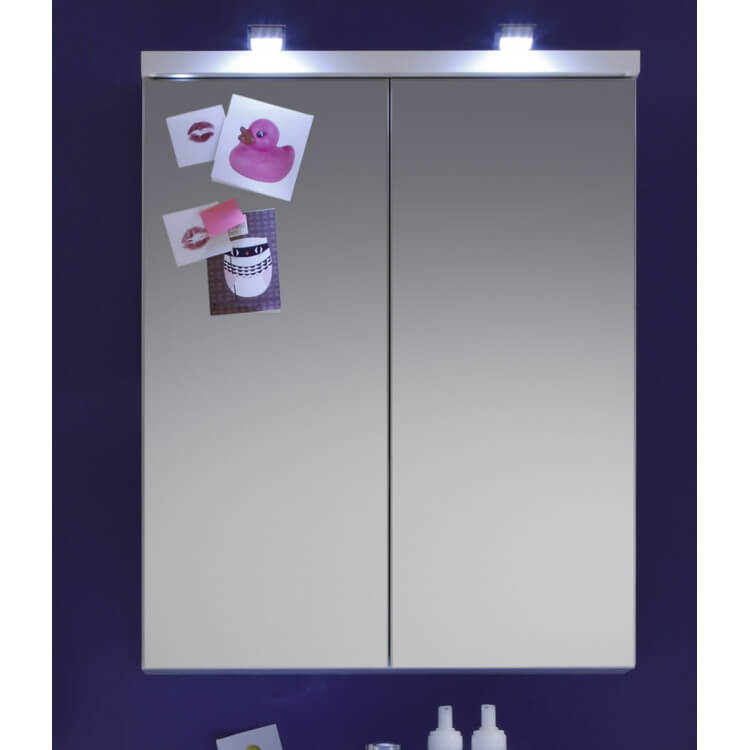 Armoire de toilette de salle de bain moderne blanche Blondie