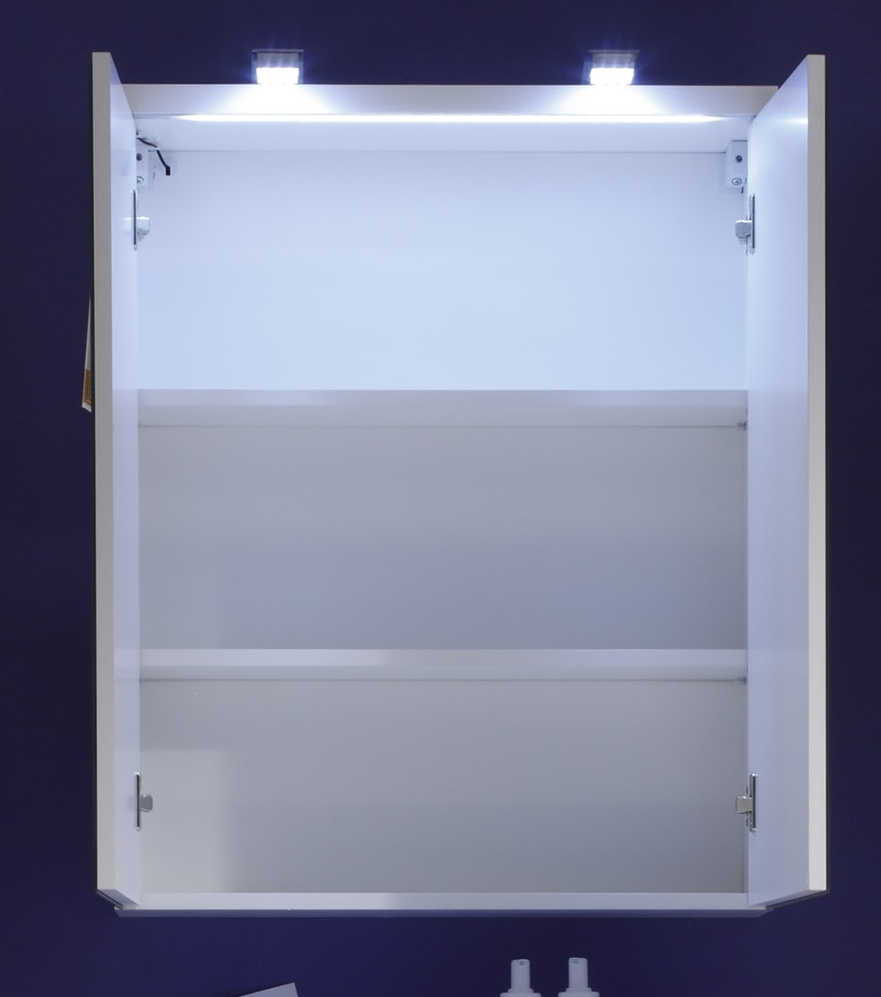 Armoire de toilette de salle de bain design avec clairage blondie matelpro for Eclairage de salle de bain design