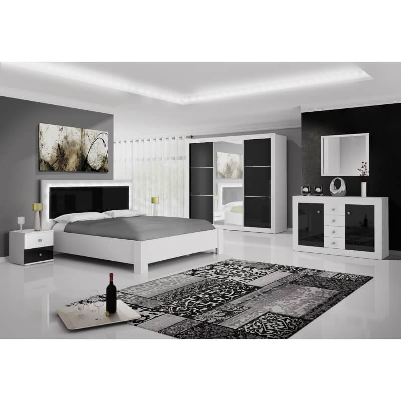 chambre adulte design blanche et noir traviata matelpro