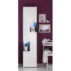Colonne de salle de bain design  avec éclairage coloris gris/blanc brillant Trevis II