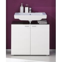 Meuble sous lavabo design coloris gris/blanc brillant Trevis
