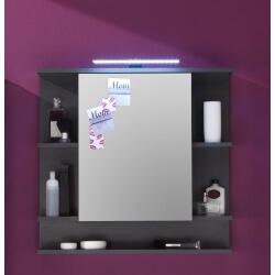 Armoire de toilette design avec éclairage coloris gris Trevis