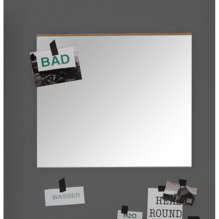 Miroir de salle de bain rectangulaire chêne clair Corleone