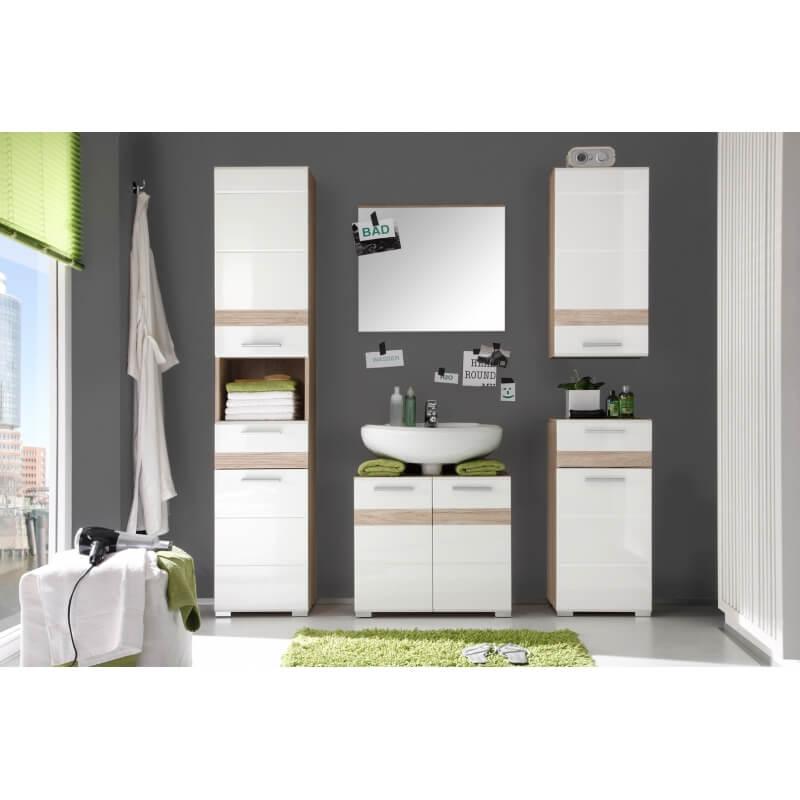 meuble bas de salle de bain contemporain 1 porte 1 tiroir. Black Bedroom Furniture Sets. Home Design Ideas