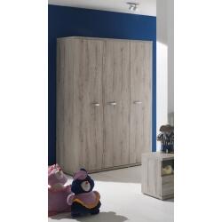 Armoire 3 portes contemporaine chêne clair Rosalie