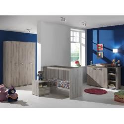 Chambre bébé contemporaine chêne clair Rosalie