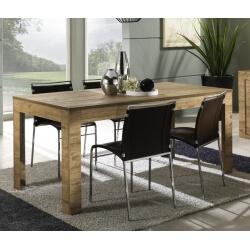 Table de salle à manger contemporaine coloris miel Gillo
