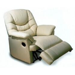 Fauteuil de relaxation manuel cuir avec repose-pieds intégré NO STRESS 2