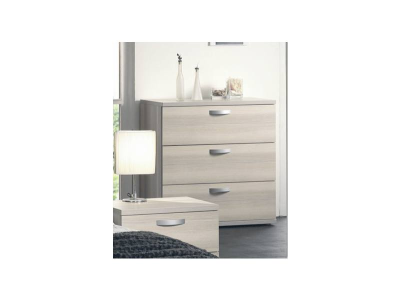 Commode adulte contemporaine 3 tiroirs frêne gris Stanley