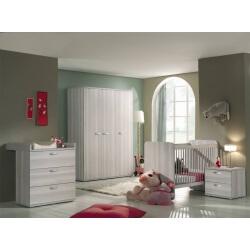 Chambre bébé complète contemporaine frêne gris Anna