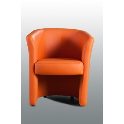 Fauteuil cabriolet design en PU orange Dolores